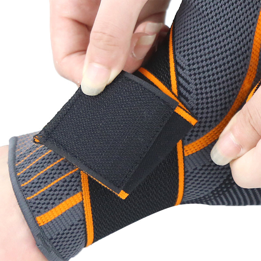 1pc Sprain Prevention Basketball Protector Gym Nylon Striped Brace Elastic Breathable Ankle Support Sports Magic Sticker Running