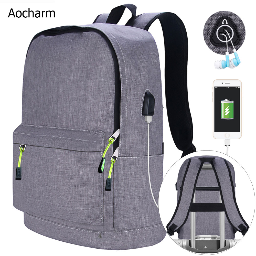 Aocharm Men's Backpack For Laptop Backpack Women School Bags For Teenage Girls Anti Theft Backpack Female School Backpacks Men