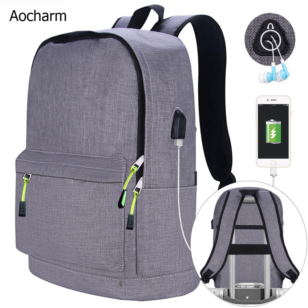 Aocharm Men's Backpack For Laptop Backpack Women School Bags For Teenage Girls Anti Theft Backpack Female School Backpacks Men