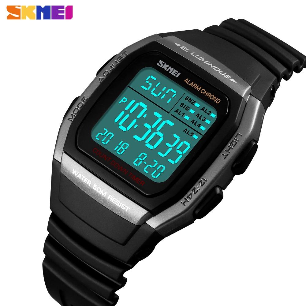SKMEI Men Watches Clock Chronograph Digital Sport Waterproof Electronic Military New-Fashion