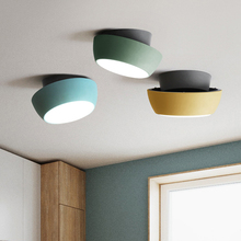 Nordic LED Acrylic Ceiling Light Color Pizza Ceiling Lamp Lighting Modern Cafe Loft Living Room Lamp Bedroom Decor Light Fixture macarons ceiling lamps rose colors metal lamp body acrylic lamp shade colorful post modern ceiling light led lighting fixture