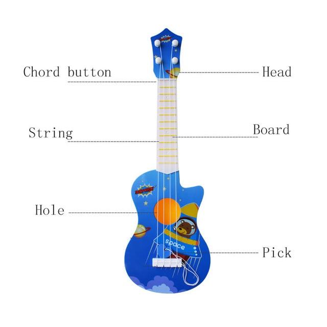 1pc Kids Funny Ukulele Musical Instruments Kids Guitar Montessori Toys for Children School Play Games Education Boys Girls 2