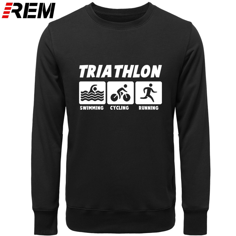 Image 2 - REM New Men Casual Hoodies Triathlon Best Cotton O Neck Long Sleeve Streetwear Mens Sportswear Hoodies, SweatshirtsHoodies & Sweatshirts   -
