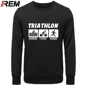 Image 2 - REM New Men Casual Hoodies Triathlon Best Cotton O Neck Long Sleeve Streetwear Mens Sportswear Hoodies, Sweatshirts