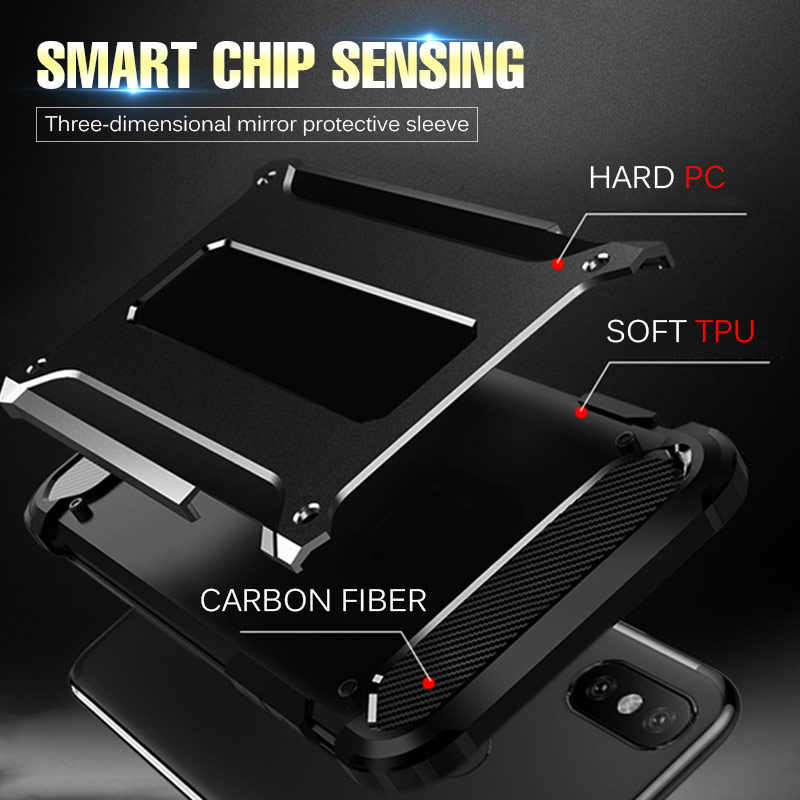 Luxury Armor Shockproof Phone Cases For Huawei Honor 20 Pro 8X 10 Lite Full Cover For Honor 10i 7c 7a P Smart 2019 Silicone Case