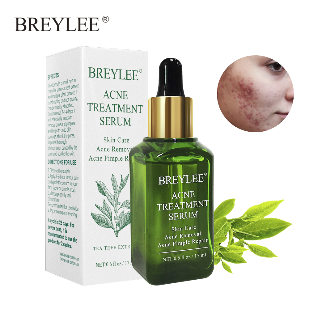 BREYLEE Acne Treatment Facial Essence Anti Acne Serum Scar Remover Cream Face Skin Care Whitening Repair Pimple Remover For Acne