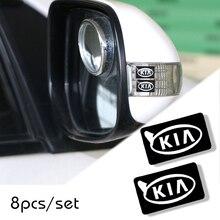 8 шт. автомобильный Стайлинг руль 3D Маленькая наклейка с эмблемой для колеса наклейка подходит для Kia rio ceed sportage cerato soul sorento k2 k5 flip