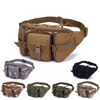 Military Fan Bag Sports Outdoor Large-Capacity Waterproof Tactical Waist Riding Travel Running Multi-Function Chest