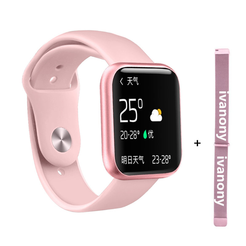 Smart watch P80+<font><b>Strap</b></font>/Set Full Touch Color Screen Smart watch Women Men Heart Rate Monitor Blood Pressure Oxygen VS B57 <font><b>S226</b></font> S9 image
