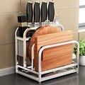 Multifunktions Küche Lagerung Rack Geschirr Kochgeschirr Organizer Regal Edelstahl Einstellbare Schneiden Bord Slot Zubehör