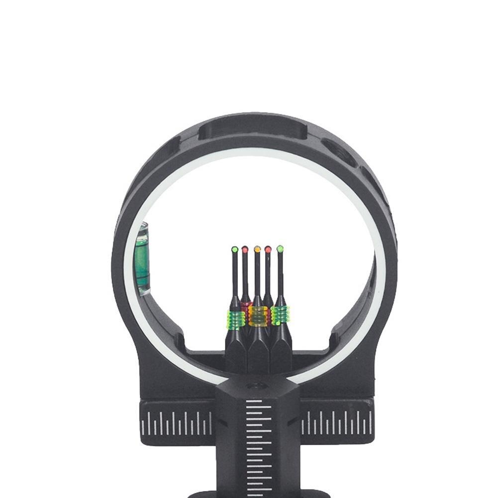 TP1550 Archery Shooting Slingshot Riflescopes 5 Pin Bow Sight Fiber Pin With Light Slingshot Training Tool