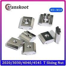 100 шт. 50ps 20ps M3 M4 M5 M6 M8 T квадратные гайки, Т-образная раздвижная гайка молотка для крепления алюминиевого профиля 2020 3030 4040 4545