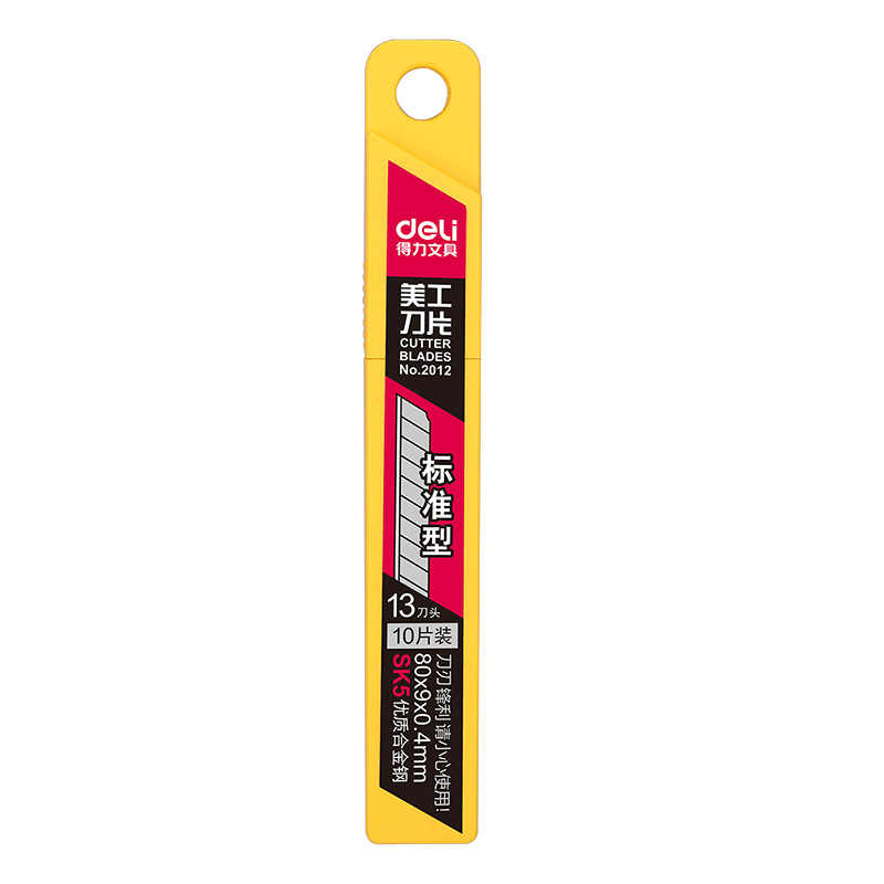 Deli 2012 10 unids/pack 9MM cuchillo cuchillas bajo de acero de aleación de carbono papel de oficina de papel de papelería, corte de papel artístico DropShipping. Exclusivo.