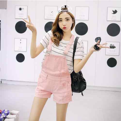 Summer Denim Overalls Short Denim Jumpsuit Romper Women Casual Jeans Playsuits Casual Overalls Shorts Rompers Female Playsuits