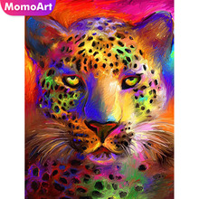 MomoArt DIY Diamond Painting Lion Embroidery Animal Mosaic Full Complete Kit Home Decoration
