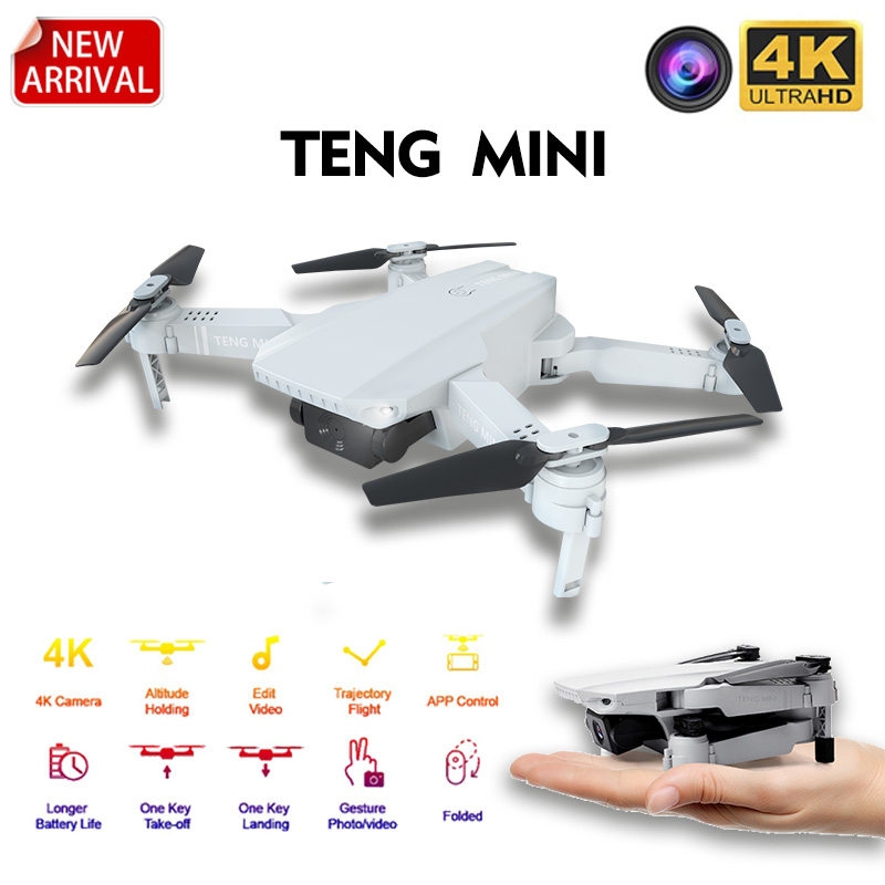 2020 New KF609 Drone 4K HD Optical Flow Camera Wifi Fpv Foldable Quadcopter Dron Smart Follow Mini Drone 249g Weight For Kid Toy