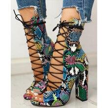 2020 Nightclub Spring Serpentine Platform High Heels Women Fashion High Heels 10cm Heels Platform Sa