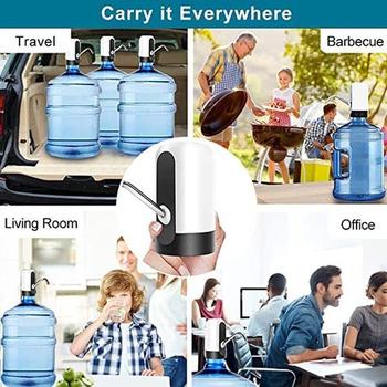 USB ładowanie automatyczne elektryczne beczkowe pompy wody Home Office czysta woda dozownik wody pitnej tanie i dobre opinie CN (pochodzenie) Z tworzywa sztucznego