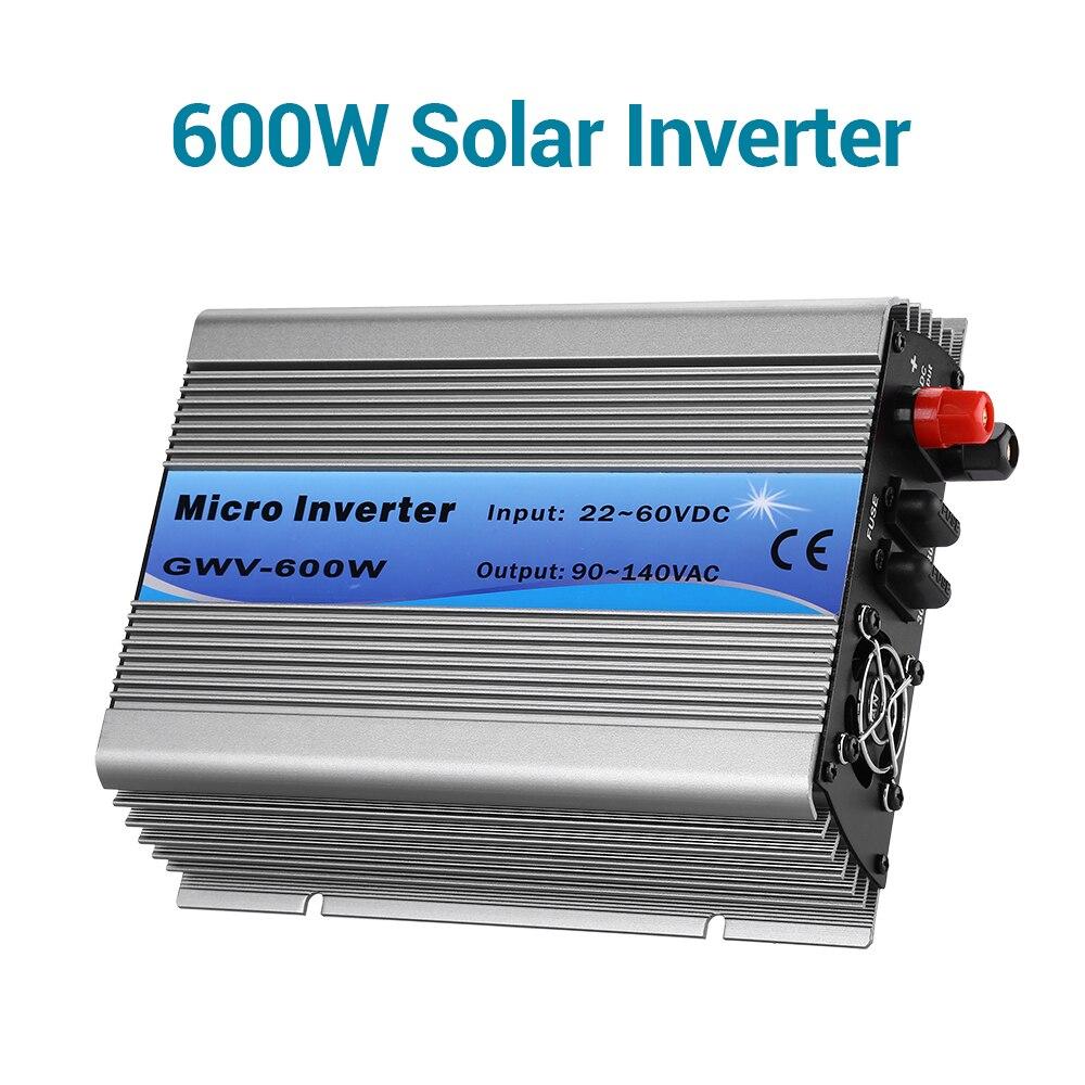 Onde sinusoïdale Pure de lien de grille d'inverseurs solaires de puissance de 600W pour l'affichage de LED de batterie de stockage de 24 V/36 V/48 V