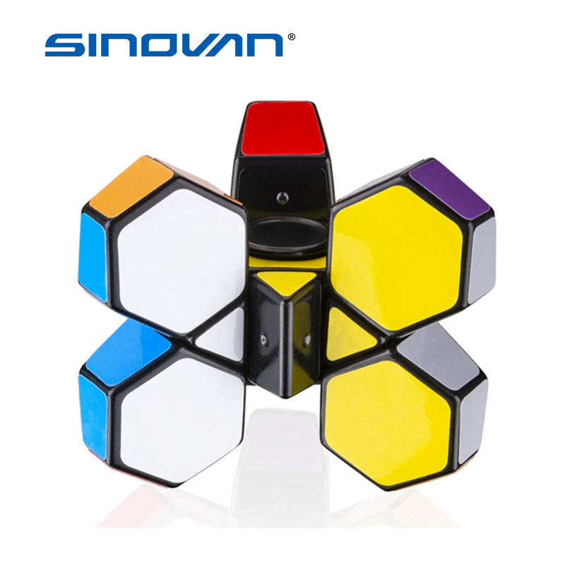 Creative 1x3x3 Fingertip cube Fidget Spinner Gyro Brain Teaser Magic Cube Spinner Toy Anti-stress Puzzle Toys For Children Gifts
