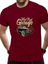 Hotrod garagem dos homens camiseta eua clássico impressão do piloto do carro de pressa quente do vintage t camisa dos homens roupas de marca