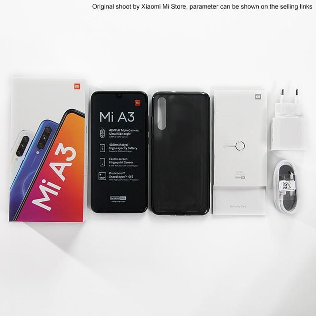 Global Version Xiaomi Mi A3 MiA3 4GB 64GB Smartphone Snapdragon 665 Octa Core 6.088 4