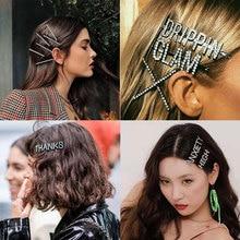 Заколки для волос со стразами и буквами, вечерние заколки для волос, заколка-пряжка с кристаллами, модные аксессуары для волос для женщин