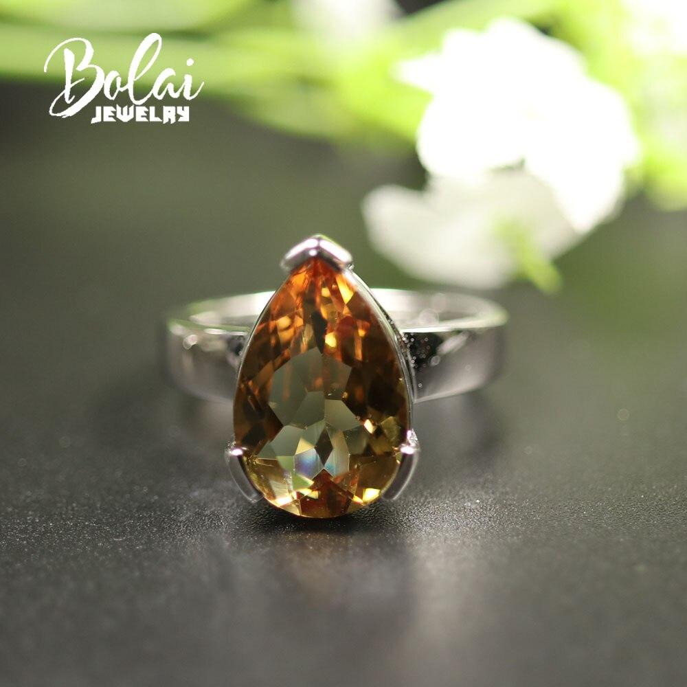 Bolai bijoux changement de couleur zultanite anneau créé bague de pierres précieuses 925 en argent sterling bijoux fins pour les femmes maman meilleur cadeau