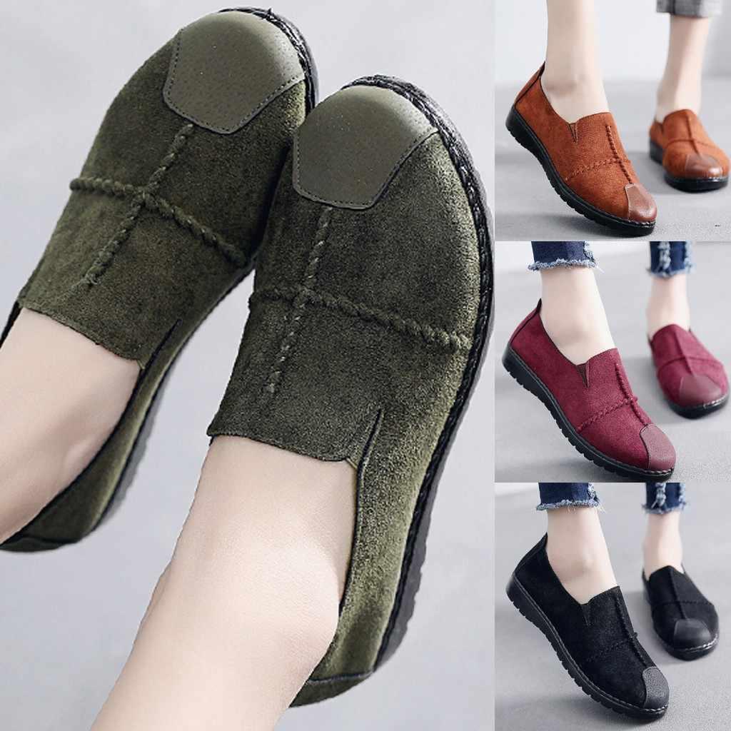 SAGACE Plus Größe 35-43 Frauen Wohnungen schuhe 2019 Faulenzer Candy Farbe Slip auf Flache Schuhe Komfortable Damen schuh zapatos mujer S9