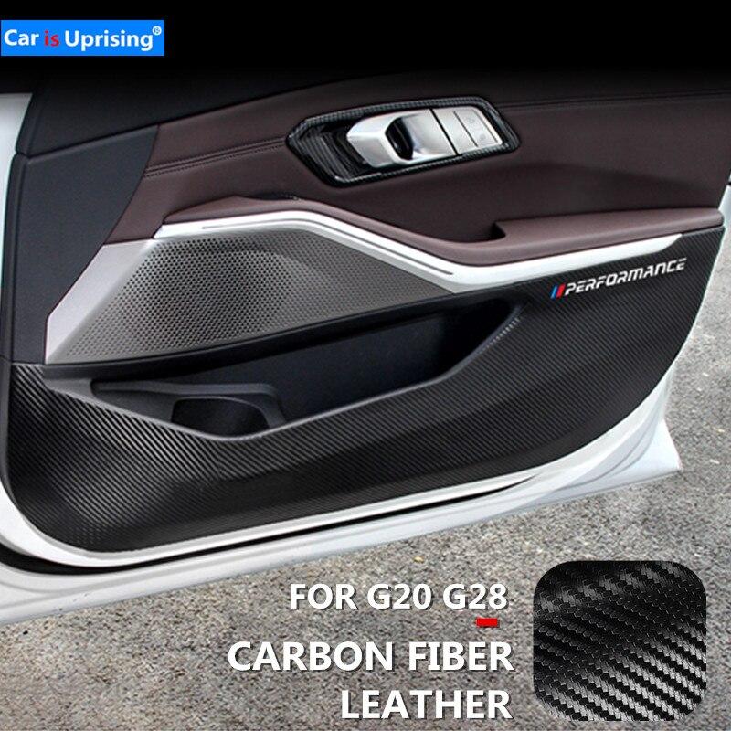 Película protetora para carro, almofada pvc antiqueda para porta de carro para bmw 3 séries g20 g28 acessórios para carro 2019-2020