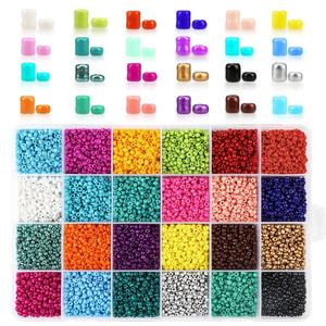 24000pcs/Box 24 Colors 2/3/4mm Small Glass Miyuki beads Seed bead Jewelry Material For Making Necklace Bracelet Jewelry Findings(China)