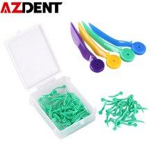 Cale dentaire jetable en plastique de qualité médicale, Non toxique, avec trou, toutes les 4 tailles, outils de laboratoire de dentisterie, 100 pièces/boîte