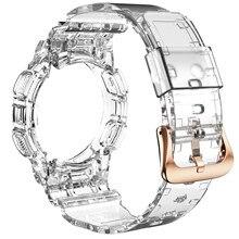 Tpu pulseira para samsung galaxy active 2 mais novo esporte cinta transparente pulseira de relógio + caso para galaxy active 2 40mm pulseira