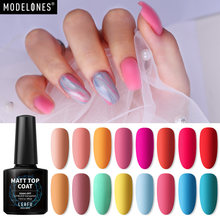 Modelones Matte Effect Led Gel Nagellak Nail Art Semi Permanente Koffie Kleur Matte UV Gel Nagellak Losweken led Gel Emaille(China)