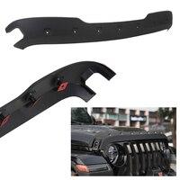 For Jeep Wrangler JL Car Hood Protector Trail Armor Hood Stone Guard Matt Black Auto Car Accessories Parts