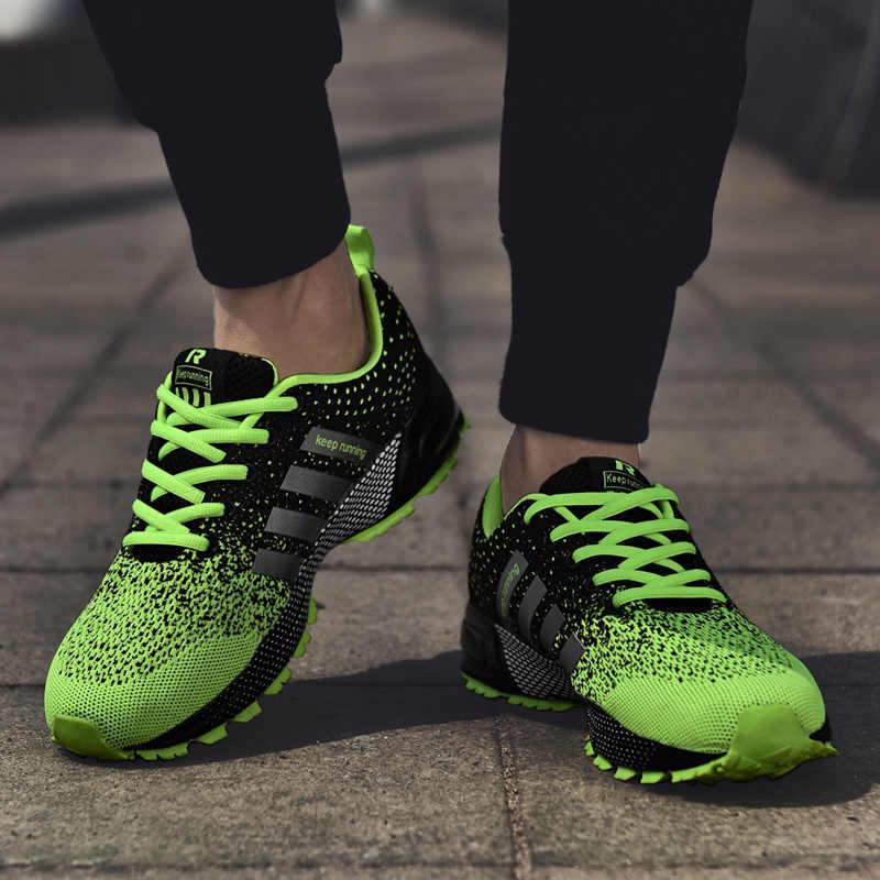 2019 마라톤 남성 여성을위한 운동화 슈퍼 경량 워킹 조깅 스포츠 스니커즈 통기성 운동 달리기 트레이너