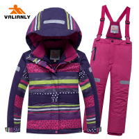 2019 Winter Kids Ski Suit Children Ski Jacket Pants Girls Ski Sets Snow Suit Waterproof Windproof Snowboarding Sets Kids Clothes