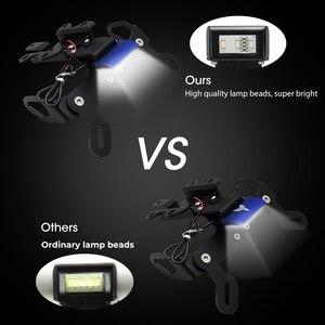 Image 2 - Protector de pantalla para motocicleta YAMAHA MT07, eliminador de guardabarros, soporte para matrícula, luz LED FZ 07 MT 07 2007 2012 2014