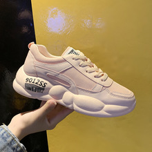 Woman Casual Shoes 2019 New Spring Fashion Breathable Leather Air Mesh Women Solid Sport Sneakers