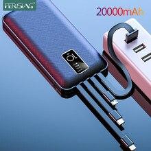 Ferisation 20000 mAh batterie d'alimentation LED affichage numérique USB externe 10000 20000 mah Pover banques batterie Portable Powerbank pour Xiaomi