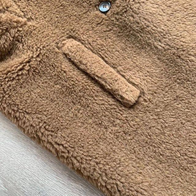 Шерстяное шелковое пальто со звездами из альпаки ins m design