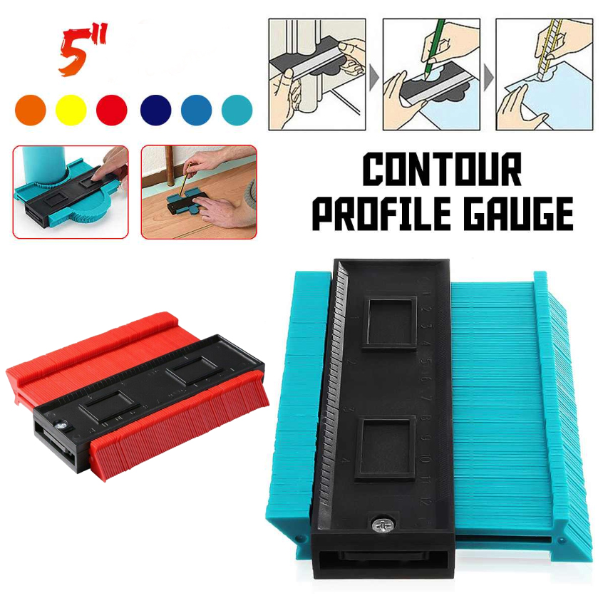 Shape Contour Gauge Duplicator Profile Measuring Tool Contour Duplication Gauge Contour Template Plastic Contour Copy Duplicator