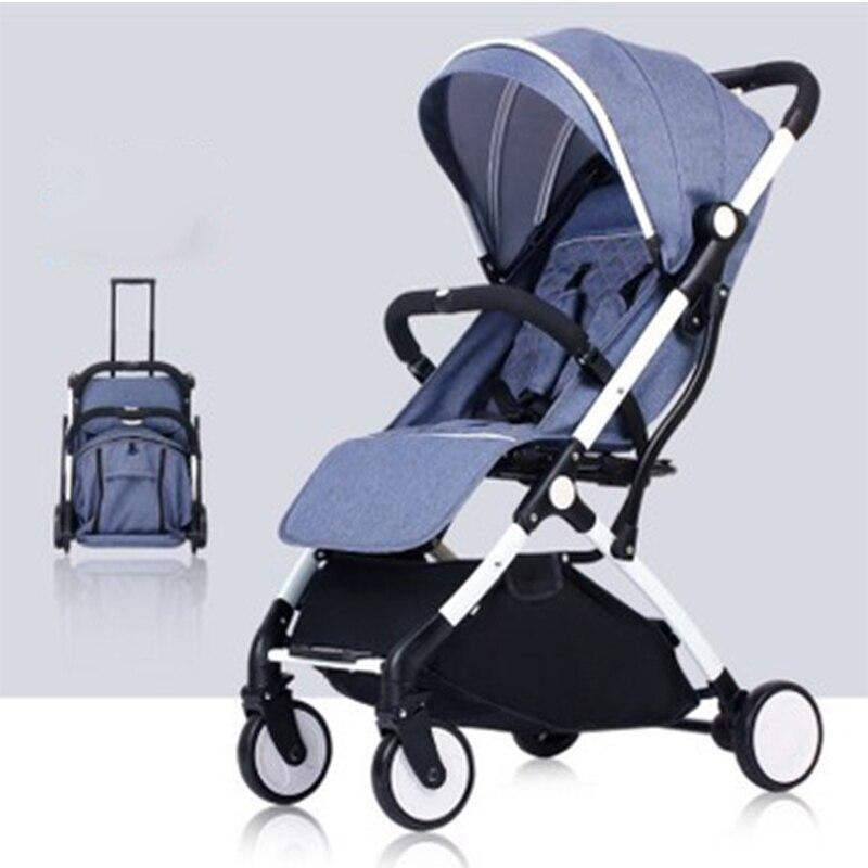 2019 nouveau bébé poussette poids léger système de voyage enfants poussette pour nouveau-né peut s'asseoir et s'allonger peut sur l'avion or poussette