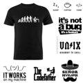 Мужская футболка из 100% хлопка, программатор кодек, программатор эволюции, программное обеспечение, инженер, гик, Забавный мужчина, подарок н...
