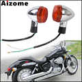 Motorcycle Rear Turn Signal Lights For Honda Shadow 400 750 VT750 04-07 Turn Indicators Lamp Emark Blinkers
