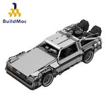 De volta para o futuro 1985 tempo viagem máquina do tempo technilele corrida blocos de construção carro desportivo modelo tijolos crianças namorado presente
