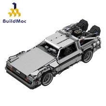 Tempo de viagem de volta para o futuro 1985 máquina do tempo de corrida tecnialal blocos de construção carro desportivo modelo tijolos crianças namorado presente