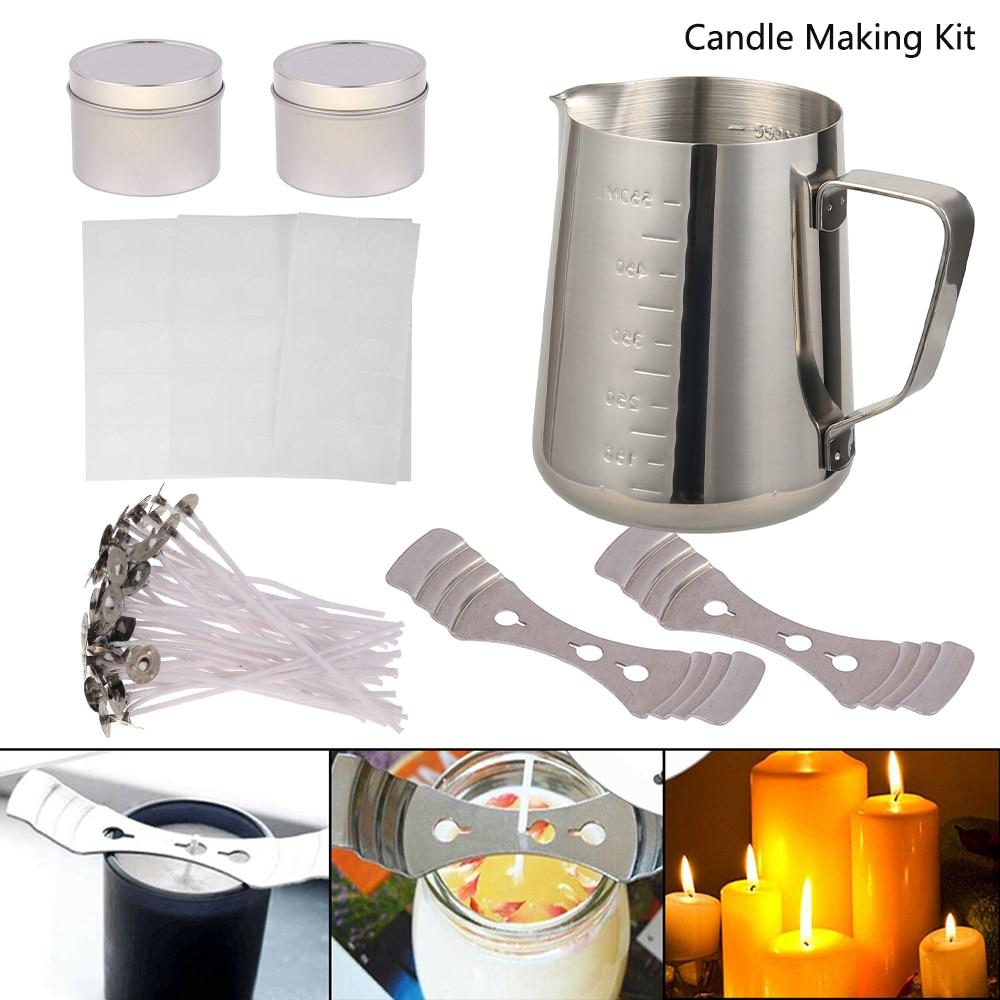 Diy vela crafting kit de ferramentas diy velas fazendo artesanato ferramentas vela pavio vela que faz a ferramenta adequada para iniciante vela que faz a fatura