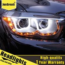 LED ไฟหน้าสำหรับ Toyota Highlander 09 11 LED ไฟวิ่งกลางวันแบบไดนามิกสัญญาณ Bi Xenon ต่ำ/สูง beam 1คู่