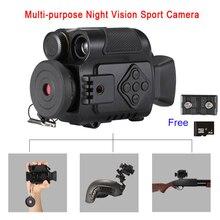 P4 0118 caméras daction de Sport de Vision nocturne numérique 5X Zoom Mini taille NV caméras infrarouges monoculaire en ventes